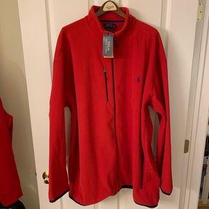 New Polo Ralph Lauren Red Fleece Jacket 4XLT NWT!